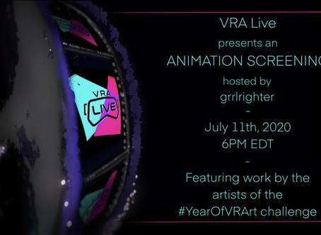 VRALive Animation Screening!