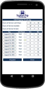 Solo Drivers Hours of Service Recap Calculator