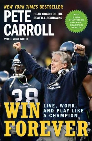 Carroll, head coach of the Seattle Seahawks, cheers on the sidelines