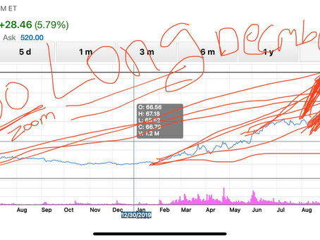 $Zoom! Chicken scratch analysis says stock could go up to $800 from its current price.