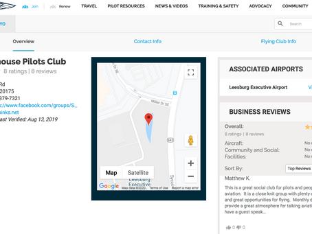 AOPA & Smokehouse Pilots club