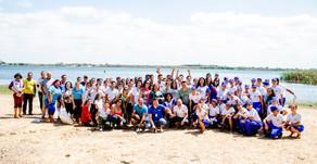 Estudantes baianos participam de ação de educação ambiental e revitalização do rio São Francisco.