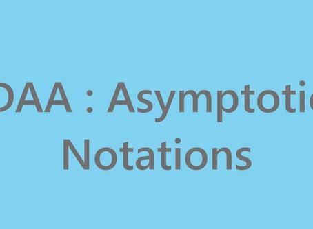 DAA : Asymptotic Notations