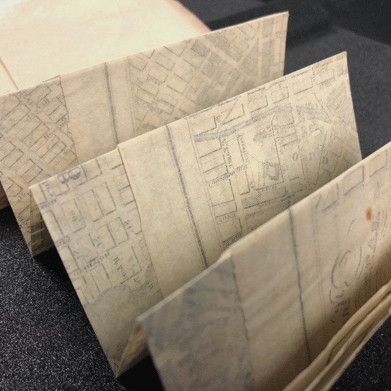 Fold Out Maps of baltimore Streets and Landmarks in 1832