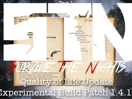 Alpha Devblog #11 (Quality of Life Update -- Experimental Patch Notes - Alpha 1.4.15)