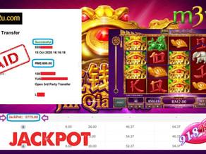 Jin-Qian-Wa slot game tips to win RM2600 in 918kiss