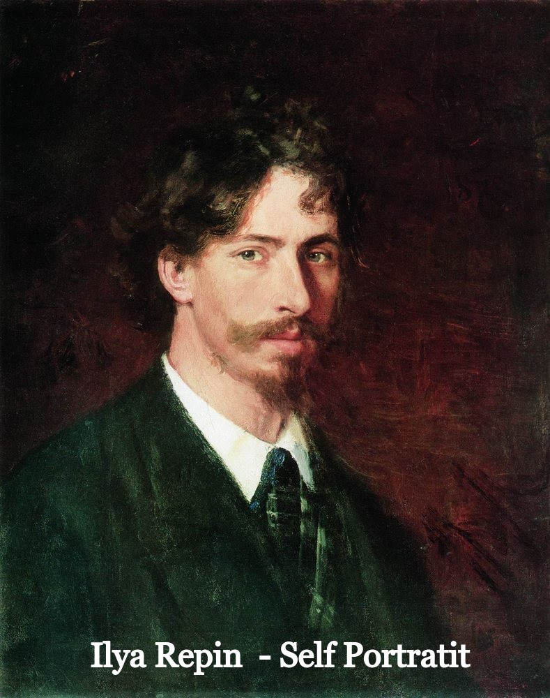 Self Portrait of Ilya Repin, 1878 poems from art ieclectica