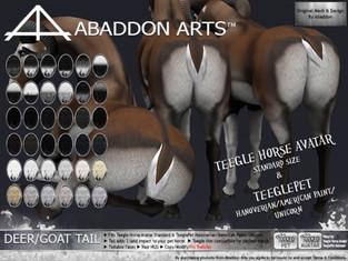 ABADDON ARTS - Deer/Goat Tail