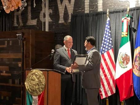 Mexican Consulate recognized NLPOA MN-Chapter member John Lozoya