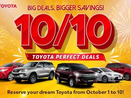 TOYOTA'S 10/10 DEALS