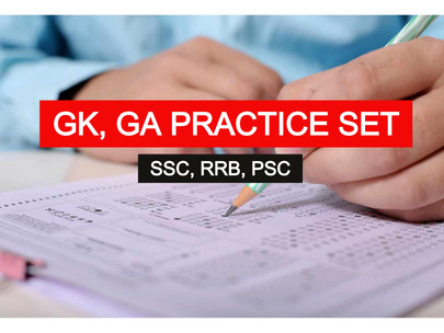GK - General Awareness Practice Set for SSC, RRB, PSC | BBPS013