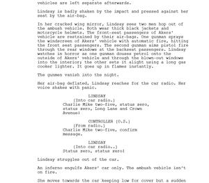 Line of Duty script, action scene