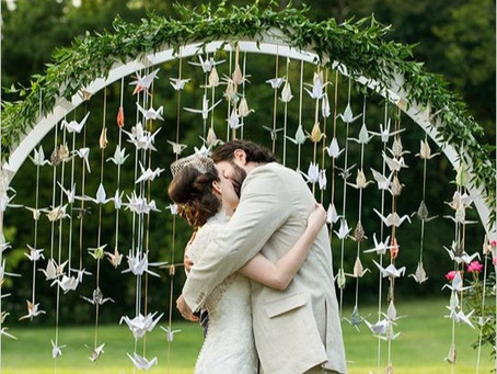 16 love-filled ways to use origami in your wedding plans