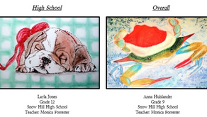 2 SHHS Students Represented in Holiday Card Contest
