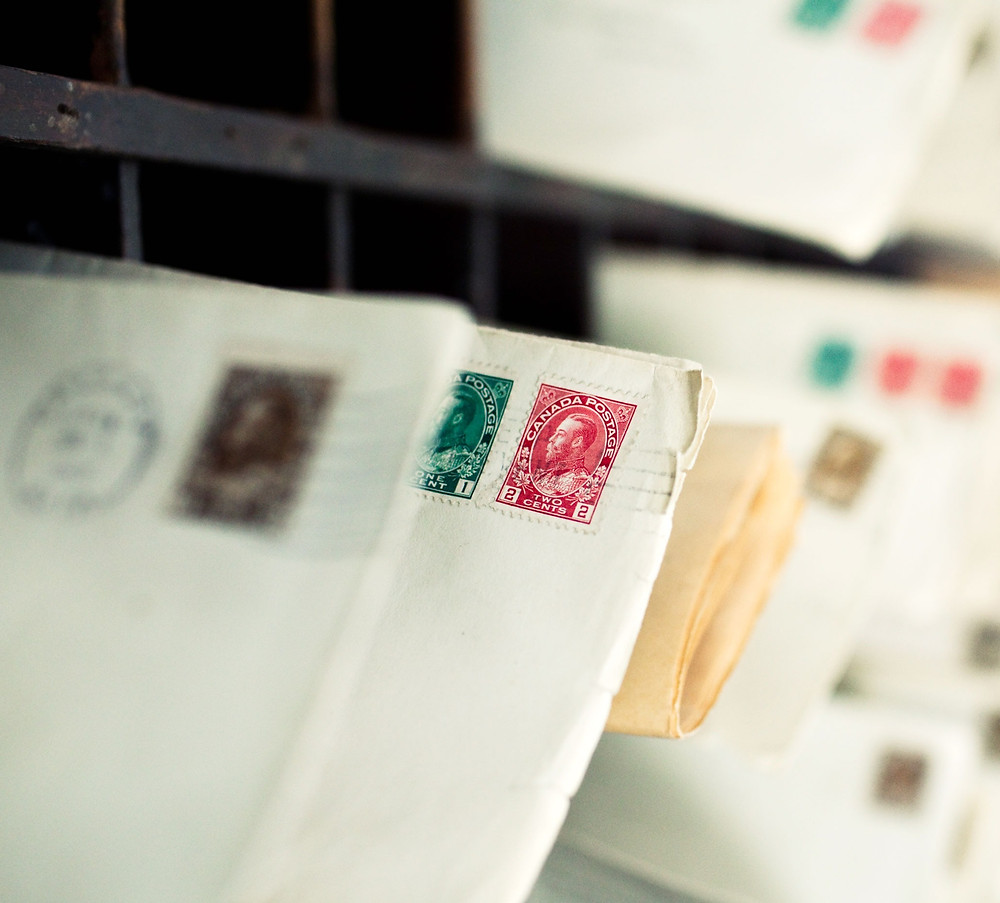 Stamped envelopes