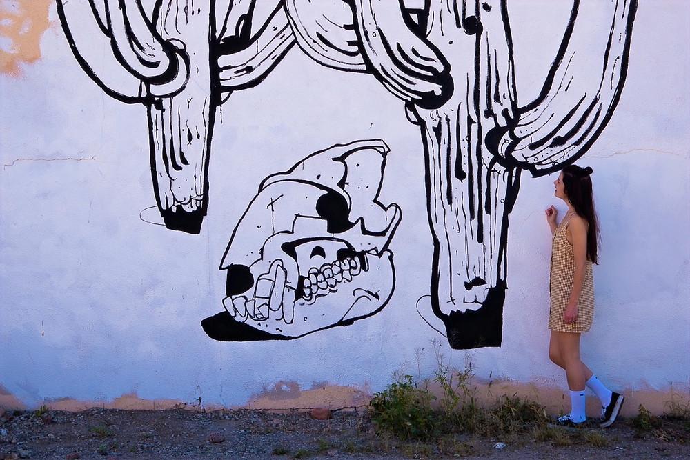 Danny Martin mural of saguaros