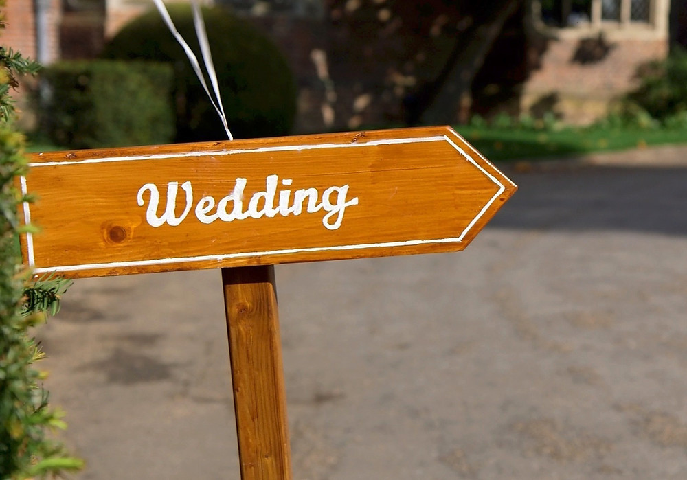 wedding sign outside