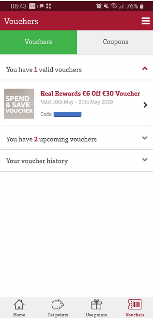 Supervalu Spend & Save vouchers