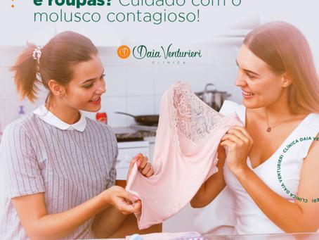 Você compartilha toalhas e roupas? Cuidado com o molusco contagioso!