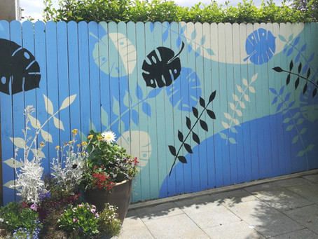 Creating an Outdoor Fence Mural