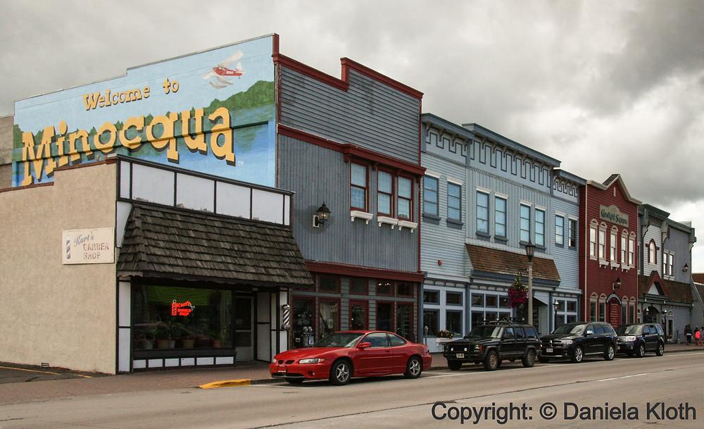 downtown Minocqua shops