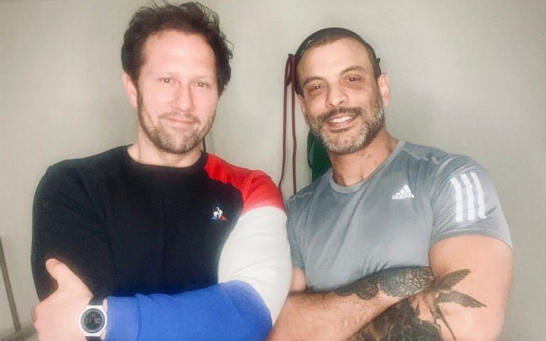 Personal trainers Julien Bertherat and Mesut Olcas.