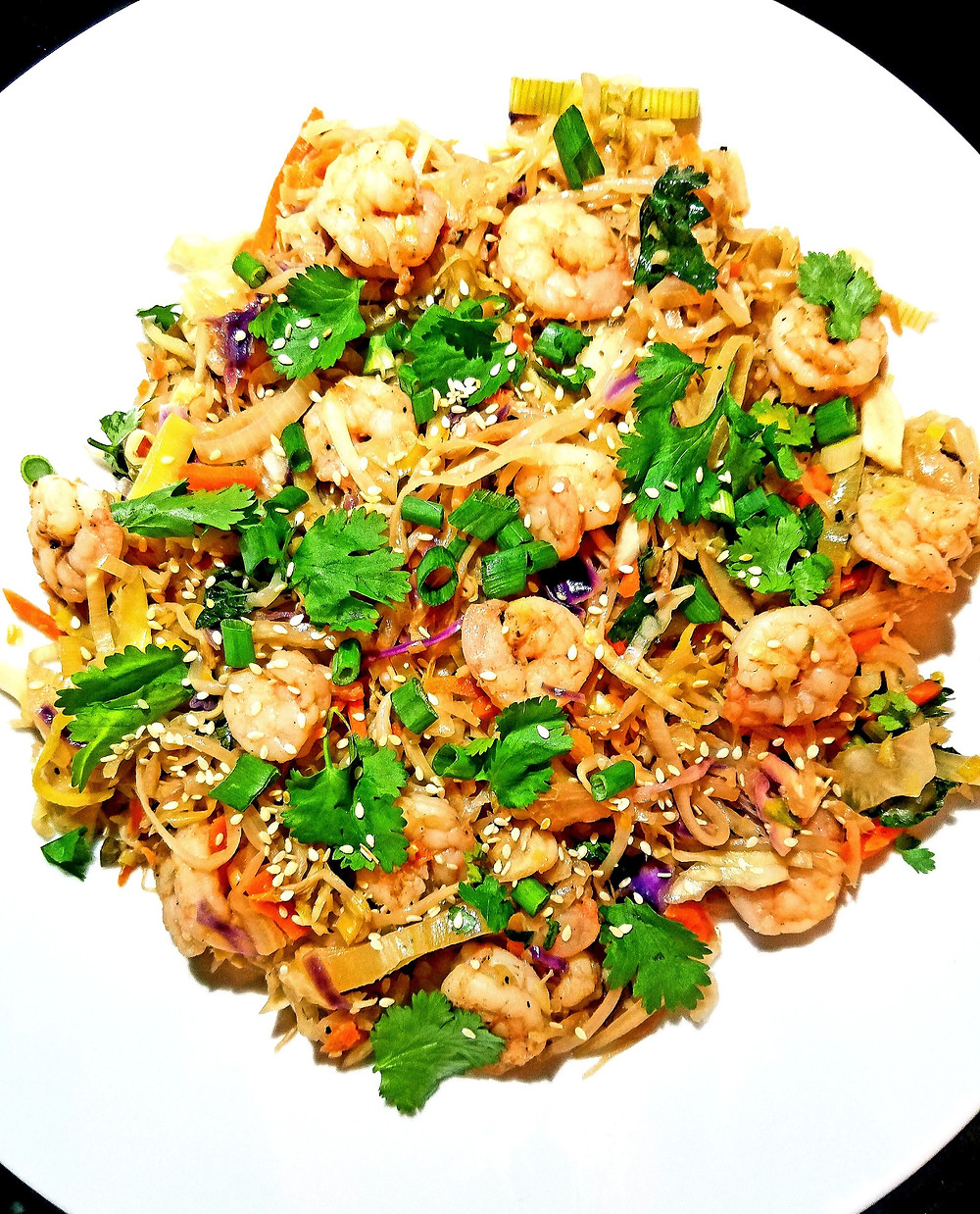 Shrimp Egg Roll in a Bowl (Gluten-free, no grains, dairy, soy)