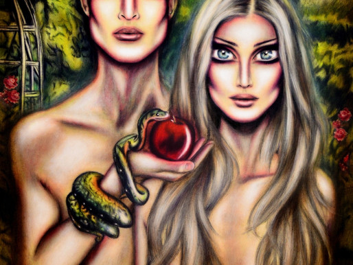Adam and Eve in the Garden of Eden Painting by Tiago Azevedo