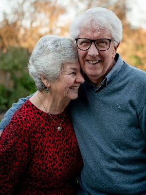 Happy senior citizens