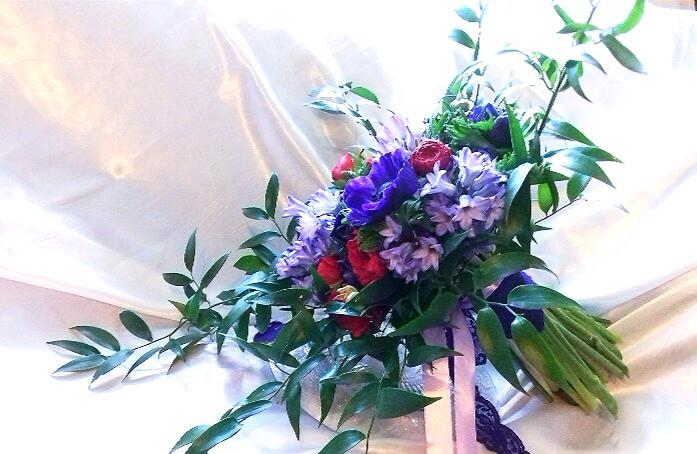 PC Creations Leeds Blue Hues Bridal Bouquet