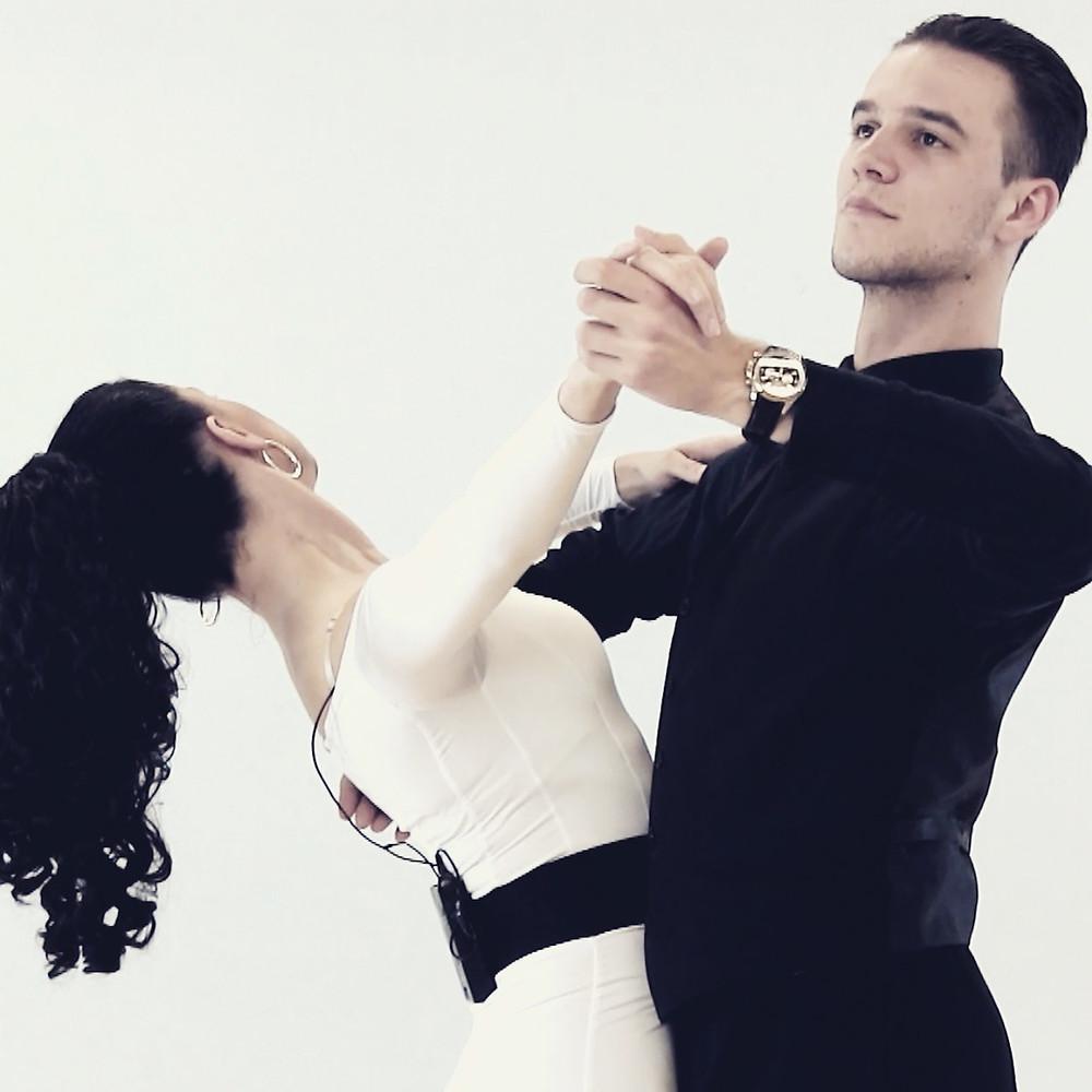 Iaroslav and OIga at filming dance classes
