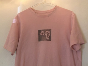 DIY Graphic Shirts (Lithograph Carving)
