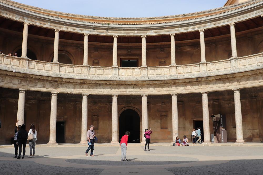 Charles V Palace inside the Alhambra in Granada Spain