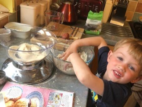 Baking scones! Jacob NAM