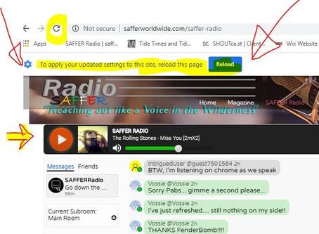 SAFFER Radio and the Google Gremlins!!