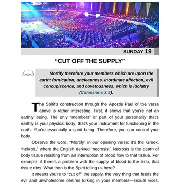 """""""CUT OFF THE SUPPLY"""""""