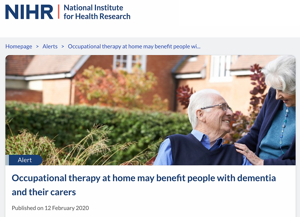Occupational therapy at home may benefit people with dementia and their carers
