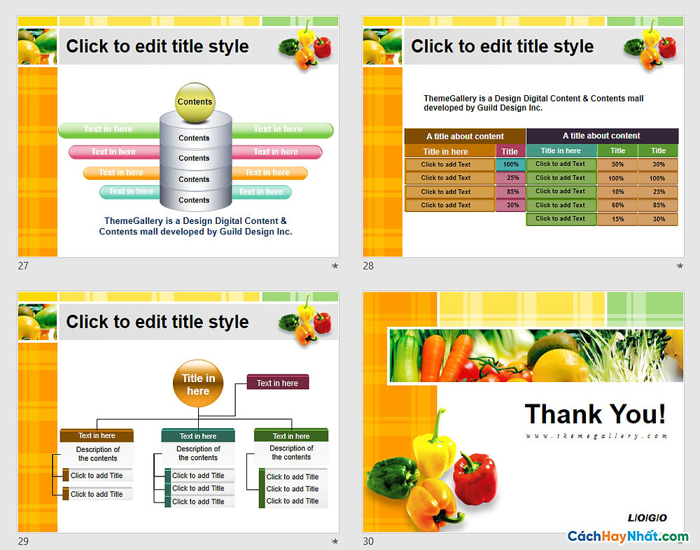 PowerPoint Template 572TGp_fresh_light_ani Free