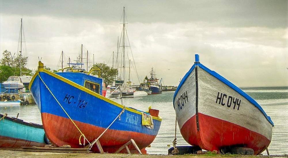 Vieux port nessebar bateaux
