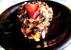 Rhubarb Strawberry Crumble/ Raparperi-Mansikka Paistos