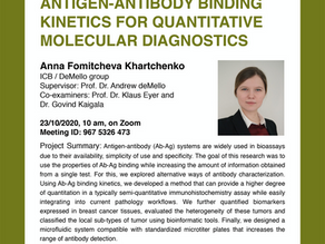 PhD public presentation by Anna Fomitcheva Khartchenko
