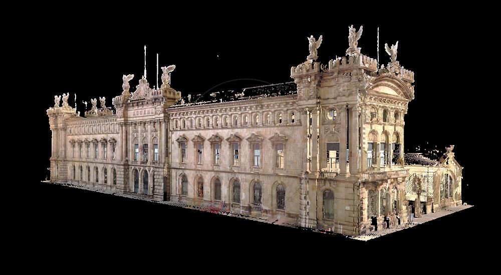 Digitalización de aduana de Barcelona - Nube de puntos