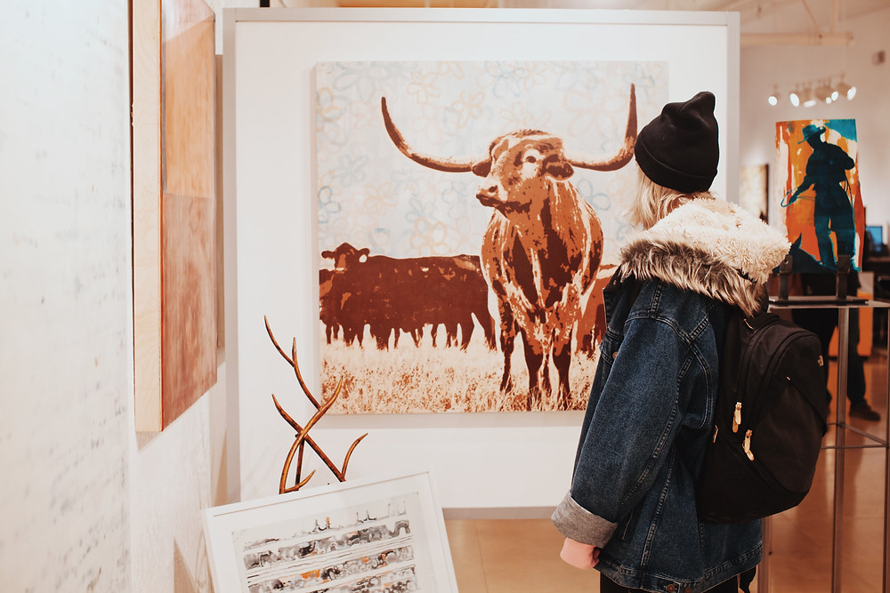 Bull art as metaphor for marketing to sell your art