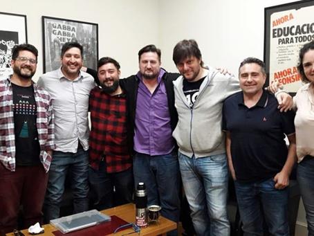 En el día del militante Radical, Ariel Mosqueira se reunión con Leandro Santoro