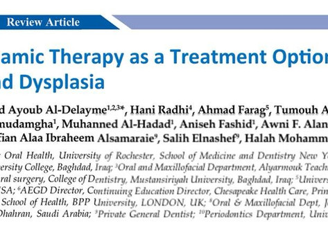 A New Article Published on Photodynamic Therapy as a Treatment Option for Oral Cancer & Dysplasia