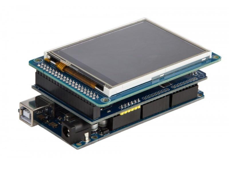 Добавьте немного причудливой технологии сенсорного экрана  с Arduino Touch Shield