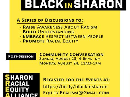 Black in Sharon: Community Conversation