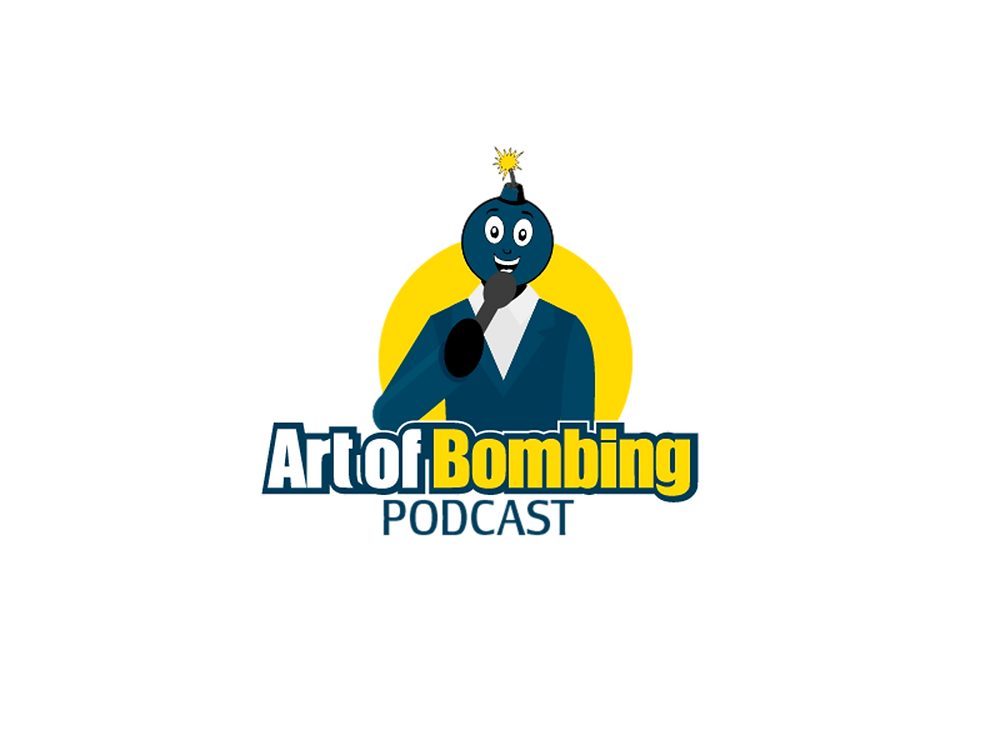 Art of Bombing Logo Bomb Telling Jokes