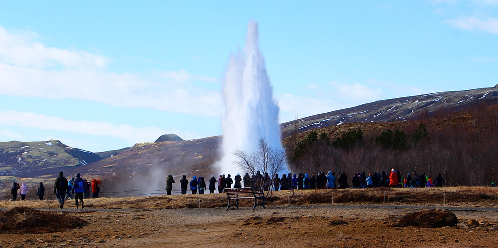 The Great Geysir On The Iceland Ring Road