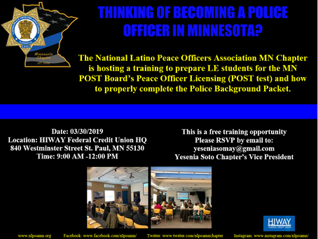THINKING OF BECOMING A POLICE OFFICER IN MINNESOTA?
